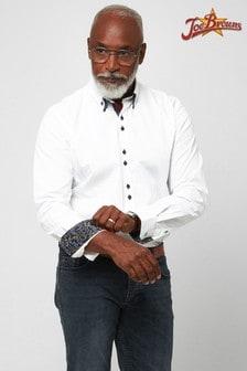 Joe Browns White Delightful Double Collar Shirt