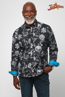 Joe Browns Black Fresh Take On Floral Shirt