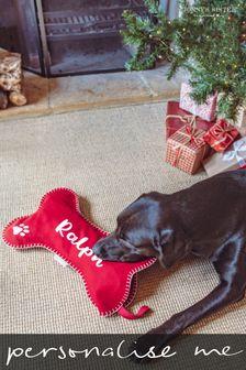 Personalised Dog Bone Christmas Stocking by Jonny's Sister