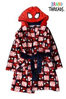 Brand Threads Red Boys Marvel Spider-man Robe with Hood