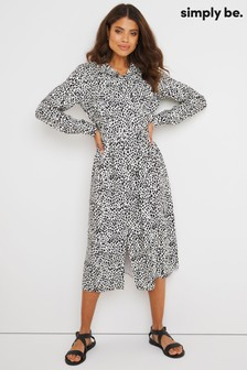 Simply Be Print Utility Midi Dress