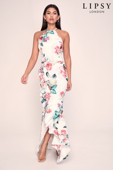 Lipsy Multi Philipa Halter Maxi Dress