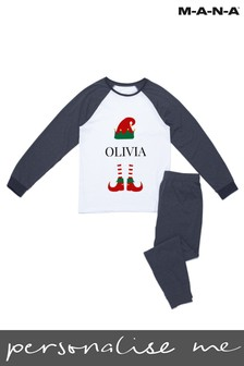 Personalised Kid's Christmas Elf Pyjamas by MANA