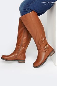 Long Tall Sally Brown Leather Riding Boot