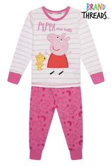 Brand Threads Pink Peppa Pig Girls Pyjamas