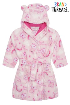 Brand Threads Pink Peppa Pig Girls Robe