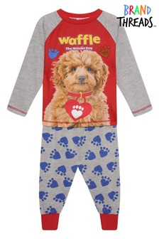 Brand Threads Red Waffle The Wonder Dog Unisex Pyjamas