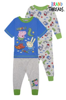 Brand Threads Blue George Pig Boys 2-Pack Pyjamas