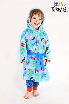 Brand Threads Blue George Pig Boys Robe