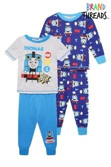 Brand Threads Blue Thomas & Friends Boys 2-Pack Pyjamas