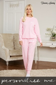 Personalised Womens Long Sleeve Lounge Set by Forever Sewing