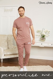 Personalised Mens T-Shirt Lounge Set by Forever Sewing