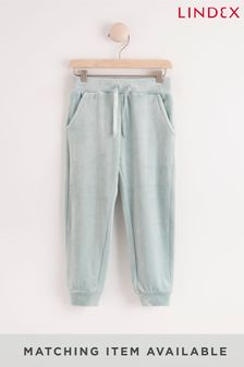 Lindex Green Girls Velour Joggers