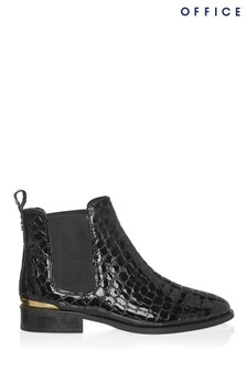 Office Bramble Patent Croc Ankle Boot