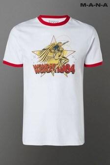 Wonder Woman 84 Golden Retro Unisex Ringer T-Shirt