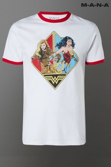 MANA White Wonder Woman 84 & The Cheetah Unisex Ringer T-Shirt