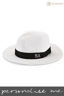 Personalised Straw Fedora Hat By HA Designs