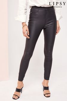 Lipsy Coated Kourtney High Rise Skinny Jeggings