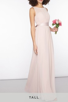Dorothy Perkins Blush Tall Chiffon Maxi Dress
