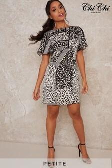 Chi Chi London Monochrome Petite Vida Maxi Dress