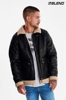 Blend Faux Leather Jacket