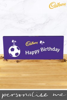 Personalised Happy Birthday 360g Cadbury Dairy Milk Bar - Football Design By YooDoo