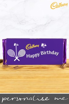 Personalised Happy Birthday 360g Cadbury Dairy Milk Bar - Tennis Design By YooDoo