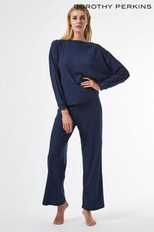 Dorothy Perkins Navy Soft Jersey Long Sleeve Twosie