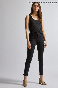 Dorothy Perkins Black Ellis Bootcut Jeans Regular Fit