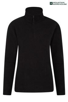 Mountain Warehouse Off Black Camber Womens Half-Zip Fleece