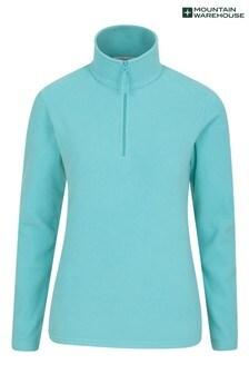 Mountain Warehouse Light Blue Camber Womens Half-Zip Fleece