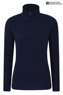 Mountain Warehouse Navy Camber Womens Half-Zip Fleece