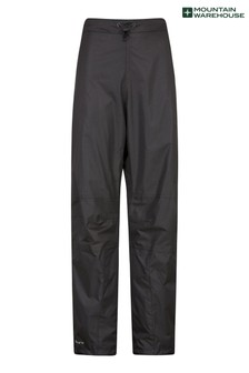 Mountain Warehouse Black Spray Womens Short Length Waterproof Trousers