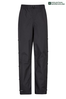 Mountain Warehouse Black Downpour Womens Short Length Waterproof Trousers