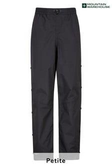 Mountain Warehouse Black Downpour Womens Short Length Waterproof Trousers