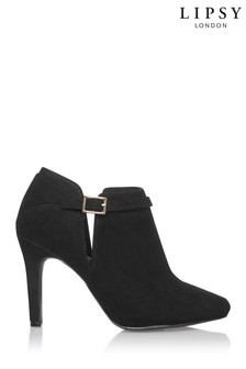 Lipsy Black Cut Out Shoe Boots