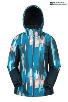 Mountain Warehouse Blue Dawn Womens Printed Ski Jacket