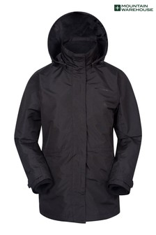 Mountain Warehouse Black Fell Womens 3 In 1 Water-Resistant Jacket