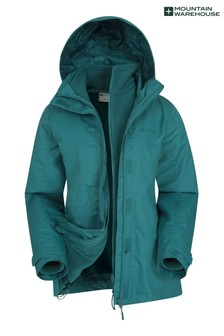 Mountain Warehouse Green Fell Womens 3 In 1 Water-Resistant Jacket