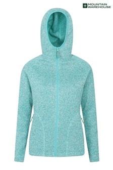 Mountain Warehouse Turquoise Nevis Womens Full Zip Hoodie