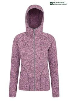 Mountain Warehouse Pink Nevis Womens Full Zip Hoodie