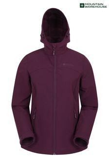 Mountain Warehouse Burgundy Exodus Womens Softshell Jacket