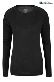 Mountain Warehouse Black Talus Womens Long Sleeved Top
