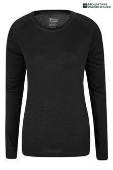 Mountain Warehouse Black Talus Womens Long Sleeved Top