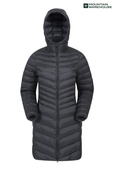 Mountain Warehouse Black Florence Womens Long Padded Jacket
