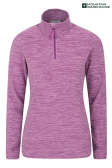 Mountain Warehouse Purple Snowdon Melange Womens Fleece