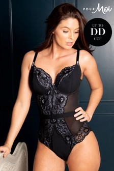 Pour Moi Black Opulence Underwired Body