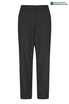 Mountain Warehouse Black Winter Trek Stretch Womens Trousers