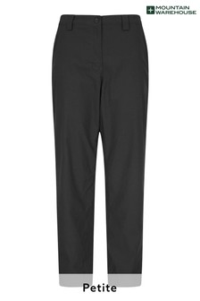 Mountain Warehouse Black Winter Trek Stretch Womens Trousers - Short Length