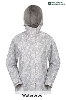Mountain Warehouse Grey Torrent Womens Printed Waterproof Jacket
